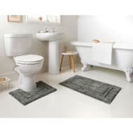 Tufted Bath Mat & Pedestal Set 2pc