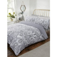 Metallic Paisley King Size Duvet Set