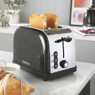 Goodmans Diamond Sparkle 2 Slice Toaster - Black