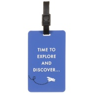 Funky Luggage Tag 2pk - And So the Adventure Begins