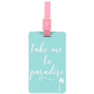 Funky Luggage Tag 2pk - Take Me To Paradise