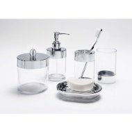 Bathroom Accessories Set 5pc - Clear