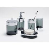 Bathroom Accessories Set 5pc - Smoked Grey
