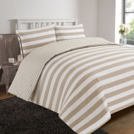 Oxford Stripe Complete Bed Set - Double