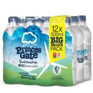 Princes Gate Pembrokeshire Still Spring Water 12 x 500ml