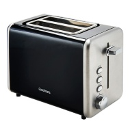 Goodmans 2-Slice Stainless Steel Toaster - Black