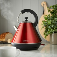 Goodmans Pyramid Kettle 1.8L - Red