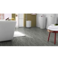 Kingmann Carisbrooke Grey Stripe Vinyl Flooring 2 x 3m Roll