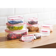 Clip Lock Food Storage Containers 8pk - Red