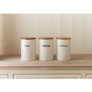 Polka Dots Tea - Coffee - Sugar Set 3pc