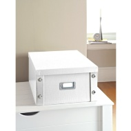 Croc Paper Storage Box Large - White