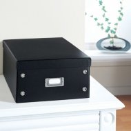 Plain Paper Storage Box Large - Black