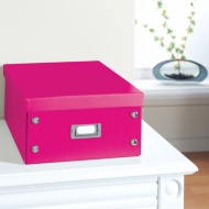 Plain Paper Storage Box Large - Deep Pink