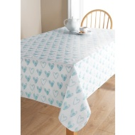 PVC Wipe Clean Tablecloth - Heart