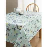 PVC Wipe Clean Tablecloth - Blue Floral