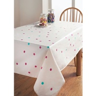 PVC Wipe Clean Tablecloth - Polka Dots