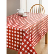 PVC Wipe Clean Tablecloth - Red Spots