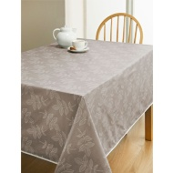 PVC Wipe Clean Tablecloth - Taupe Leaf