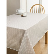 PVC Wipe Clean Tablecloth - Taupe Spots