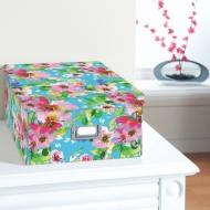 Floral Paper Storage Box Large - Bright Floral