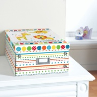 Kids Paper Storage Box Large - Bright