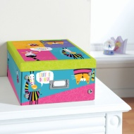 Kids Paper Storage Box Large - Animals