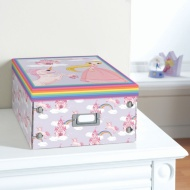 Kids Paper Storage Box Large - Princess