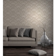 Fine Decor Wentworth Damask Wallpaper - Cream/Gold
