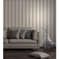 Fine Decor Wentworth Stripe Wallpaper - Cream/Gold