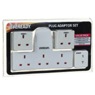 Eveready Plug Adaptor Set 4pc