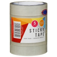 Clear Sticky Tape 5pk