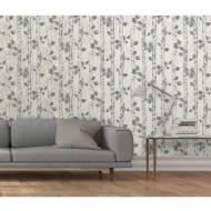 Fine Decor Sparkle Birchwood Wallpaper - Neutral