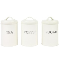 Tea, Coffee & Sugar Set - Cream