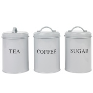 Tea, Coffee & Sugar Set - Grey