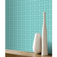Rasch Scandi Geo Wallpaper - Duck Egg