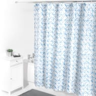 Beldray Printed Shower Curtain - Blue