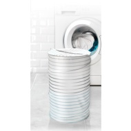 Beldray Pop-Up Laundry Hamper - Silver Stripes