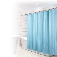 Beldray Fine Jacquard Stripe Shower Curtain - Aqua