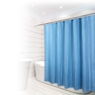 Beldray Fine Jacquard Stripe Shower Curtain - Blue