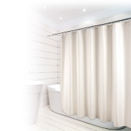 Beldray Fine Jacquard Stripe Shower Curtain - Cream