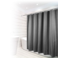 Beldray Fine Jacquard Stripe Shower Curtain - Grey