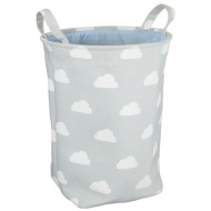 Kids Canvas Laundry Hamper - Blue Cloud