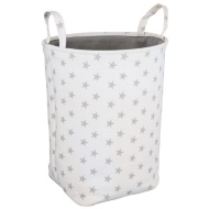 Kids Canvas Laundry Hamper - White Star