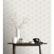 Rasch Palace Wallpaper - White/Silver