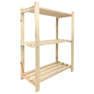 Lovon 3-Tier Pine Shelf