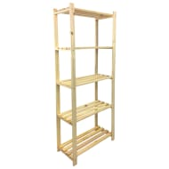 Lovon 5-Tier Pine Shelf