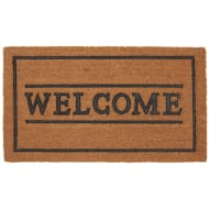 Rubber & Coir Doormat - Welcome