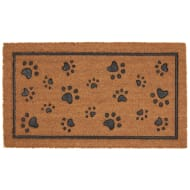 Rubber & Coir Doormat - Paw Prints