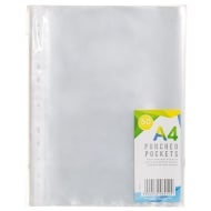 A4 Punched Pockets 50pk