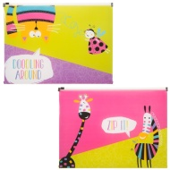A4 Fashion Zip Wallets 2pk - Animals